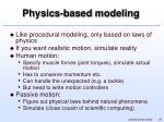 physics based modeling