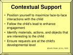 contextual support