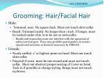 grooming hair facial hair