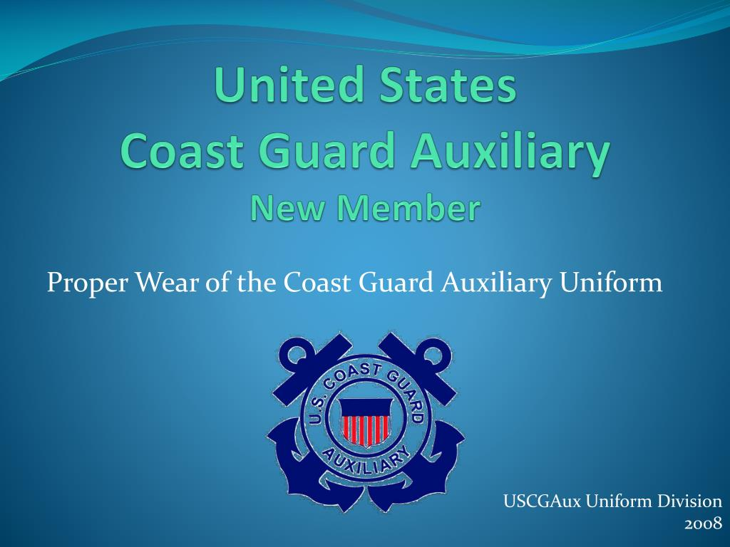 united states coast guard auxiliary new member l.
