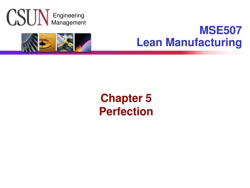 mse507 lean manufacturing l.
