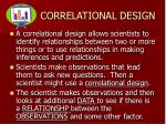 correlational design