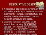 descriptive design