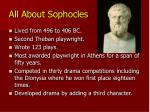 all about sophocles