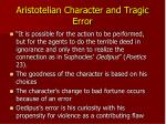 aristotelian character and tragic error