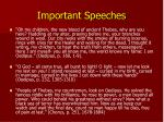 important speeches