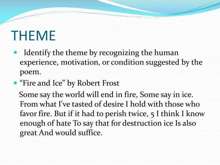 fire and ice by robert frost summary