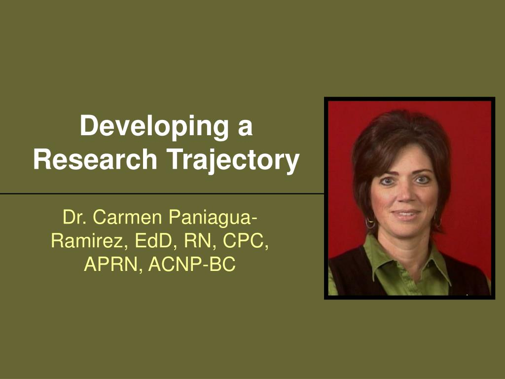 developing a research trajectory l.