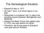 the genealogical situation