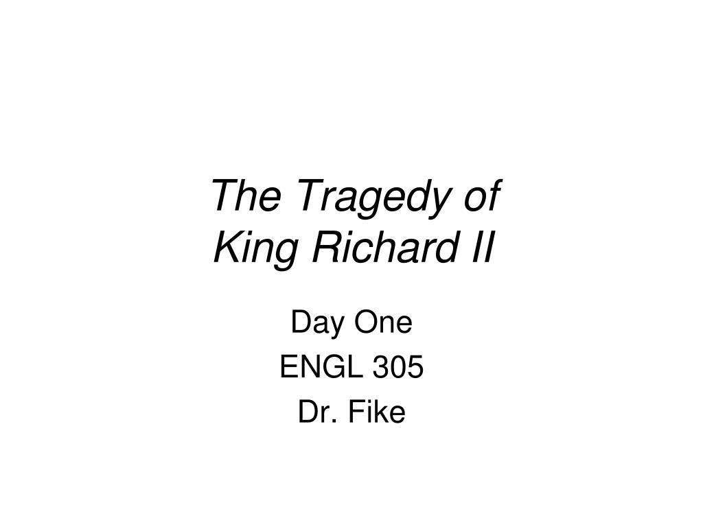 the tragedy of king richard ii l.