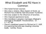 what elizabeth and r2 have in common