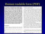 human readable form pdf