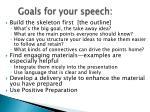 goals for your speech49