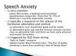 speech anxiety