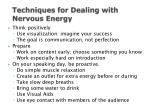 techniques for dealing with nervous energy
