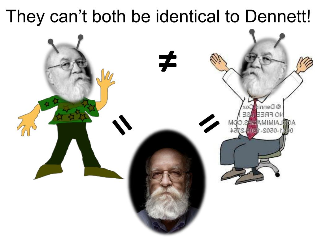 They can't both be identical to Dennett!