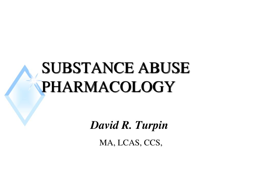 substance abuse pharmacology l.