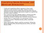 conceptual issues economic and monetary integration4