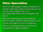 other specialties29