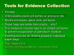 tools for evidence collection