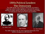 1890s political leaders the democrats