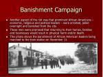 banishment campaign