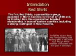 intimidation red shirts