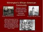wilmington s african american community