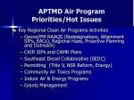 aptmd air program priorities hot issues