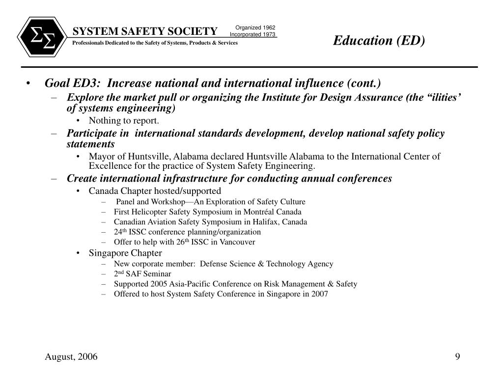 Goal ED3:  Increase national and international influence (cont.)