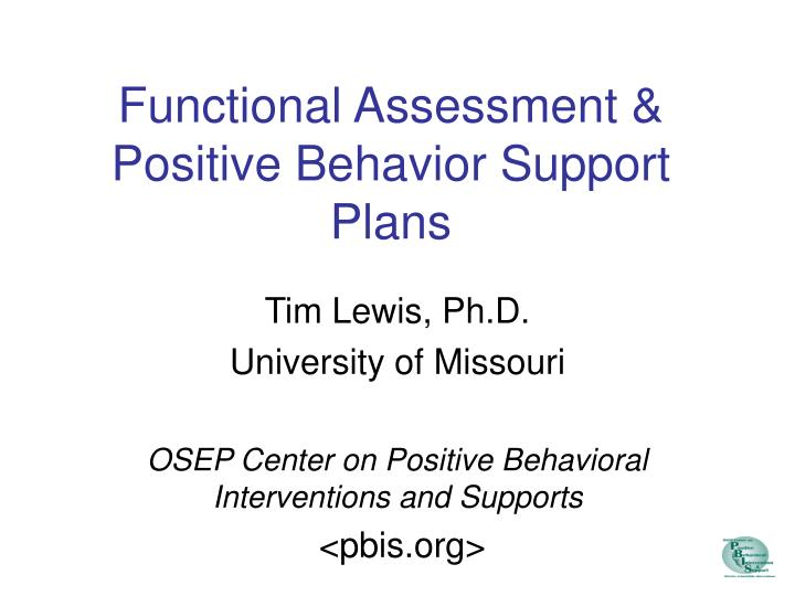functional assessment positive behavior support plans n.