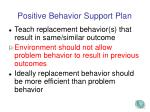positive behavior support plan