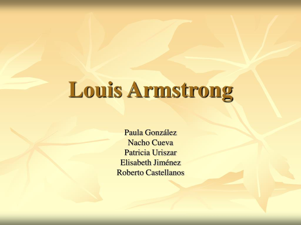 louis armstrong l.