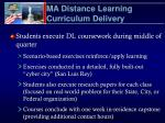 ma distance learning curriculum delivery