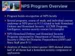 nps program overview