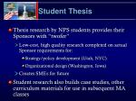 student thesis