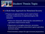 student thesis topic