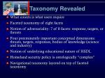 taxonomy revealed