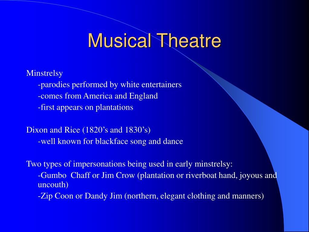 musical theatre l.