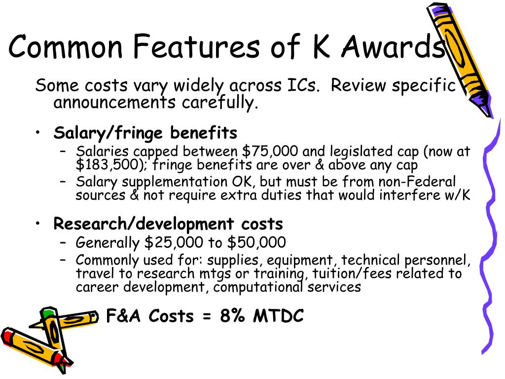 Common Features of K Awards