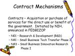 contract mechanisms