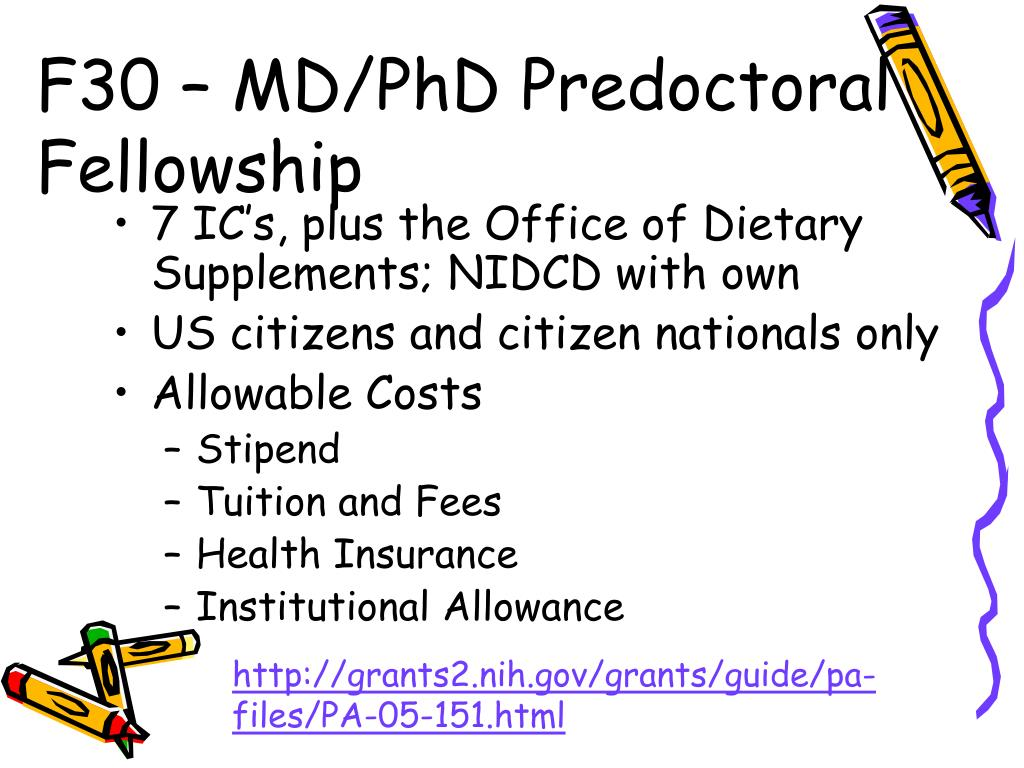 F30 – MD/PhD Predoctoral Fellowship