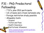f31 phd predoctoral fellowship