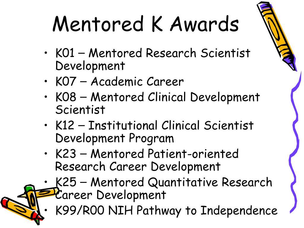 Mentored K Awards