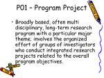 p01 program project