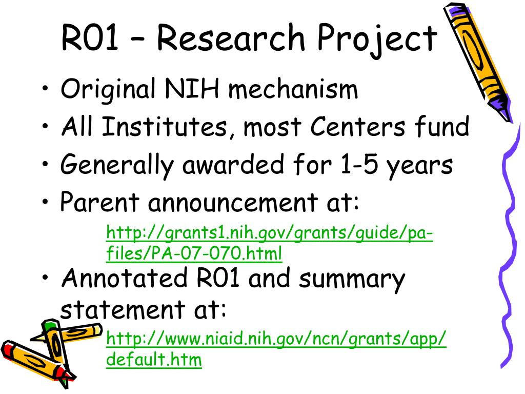 R01 – Research Project