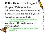 r01 research project