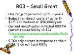 r03 small grant