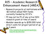 r15 academic research enhancement award area