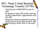 r41 phase i small business technology transfer sttr